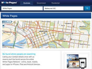 Screenshot White Pages Australia on iPad