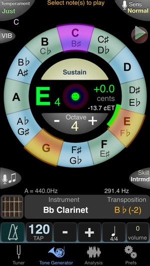 Screenshot TonalEnergy on iPhone