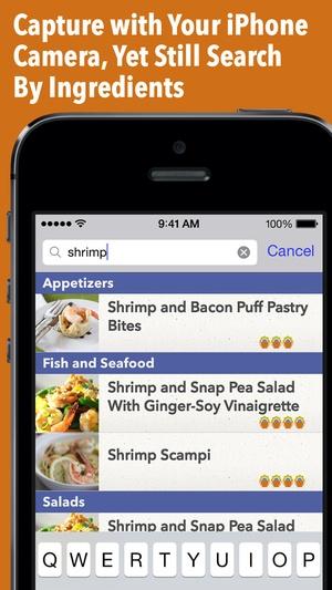 Screenshot Recipe Gallery on iPhone