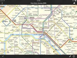 Screenshot Metro Maps on iPad