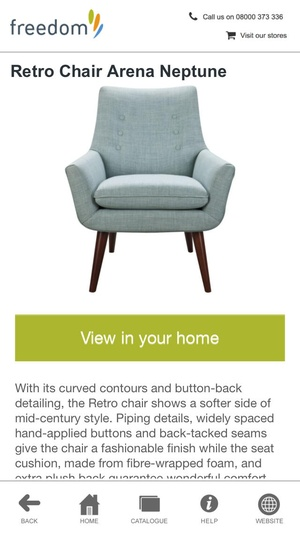 Screenshot Freedom Furniture on iPhone