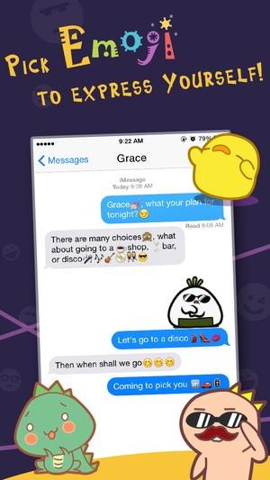 Screenshot Animated Emoji Pro & Emoticon Keyboard Art on iPhone