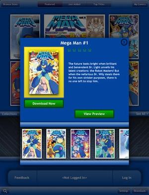 Screenshot Mega Man Comics on iPad