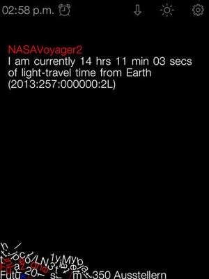 Screenshot gravity clock on iPad