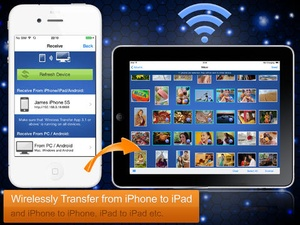 Screenshot Wireless Transfer App on iPad