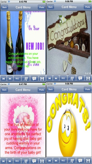 Screenshot Congratulation Cards Maker with Photo Editor.Congratulation Greeting Cards. on iPhone