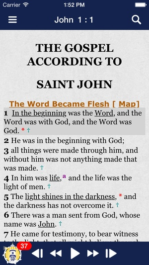 Screenshot Catholic Study Bible App Ignatius on iPhone
