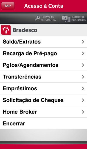 Screenshot Bradesco Exclusive on iPhone