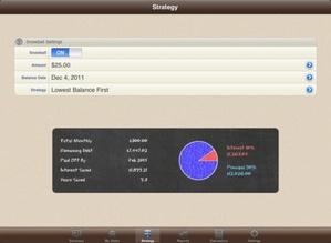 Screenshot Debt Manager on iPad