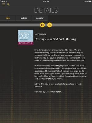 Screenshot Hearing From God [by Joyce Meyer] on iPad