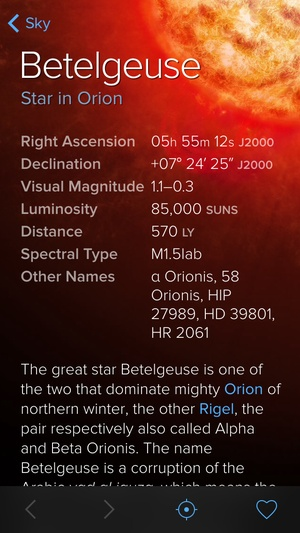 Screenshot Sky Guide: View Stars Night or Day on iPhone