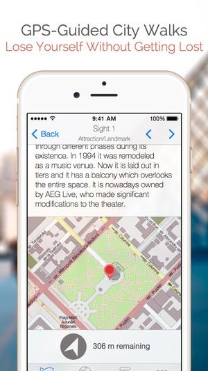 Screenshot Boston Map and Walks on iPhone