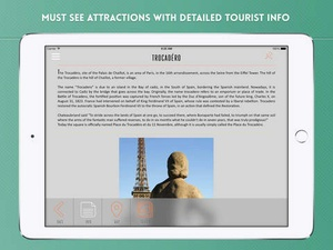 Screenshot Paris Travel Guide with Offline City Street and Metro Maps on iPad