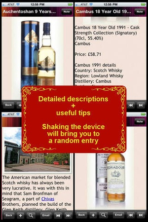 Screenshot The Scotch Whisky Encyclopedia on iPhone