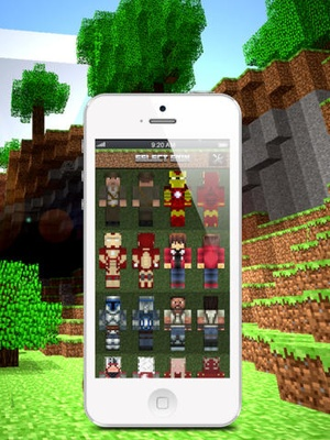 Screenshot Skins for Minecraft: Super Hero Edition on iPad