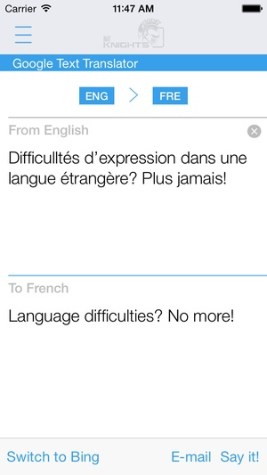 Screenshot French English Dictionary and Translator (Le Dictionnaire Français on iPhone