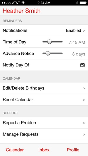 Screenshot MyCalendar Mobile on iPhone