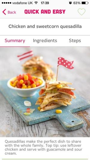 Screenshot Annabel Karmel Family Cooking on iPhone