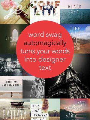 Screenshot Word Swag  on iPad