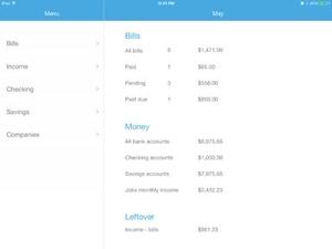 Screenshot Bills Check on iPad