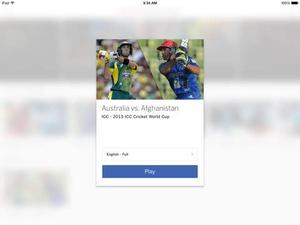 Screenshot ESPN Cricket 2015 on iPad