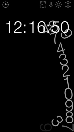 Screenshot gravity clock on iPhone