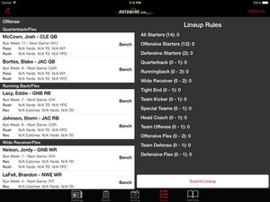 Screenshot RT Sports Football Manager 2015 by RotoWire on iPad