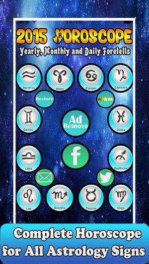 Screenshot Horoscopes 2015 on iPhone