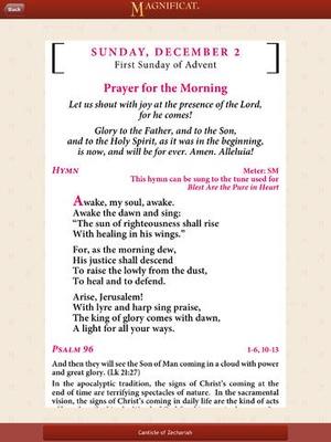 Screenshot Magnificat (US edition) on iPad