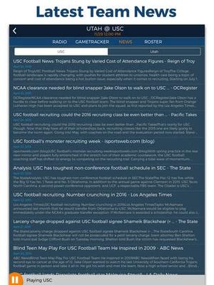 Screenshot College Football Radio & Live Scores! on iPad