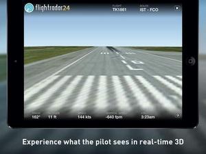 Screenshot Flightradar24  on iPad