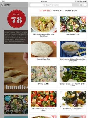 Screenshot Giada:  A Digital Weekly on iPad