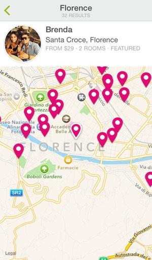 Screenshot Homestay.com on iPhone