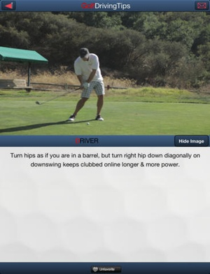 Screenshot Golf Driving Tips Free on iPad
