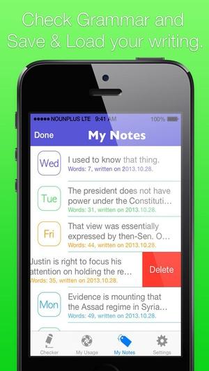 Screenshot Grammar Checker Daily on iPhone