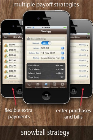 Screenshot Debt Manager on iPhone