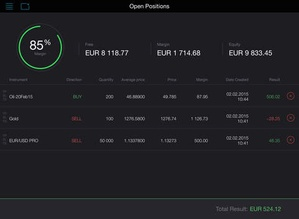 Screenshot Trading 212 FOREX on iPad