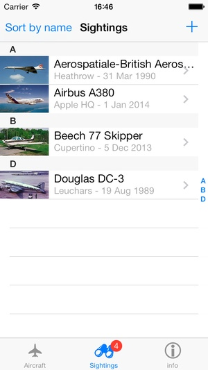 Screenshot Aircraft ID on iPhone