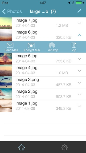 Screenshot WinZip on iPhone