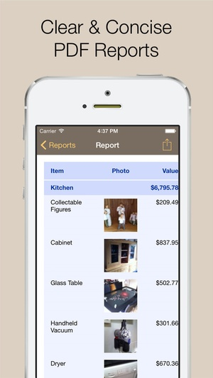 Screenshot Home Contents on iPhone