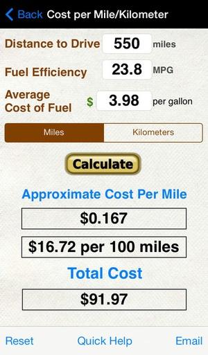 roadtrip gas cost calculator app downloads alternatives