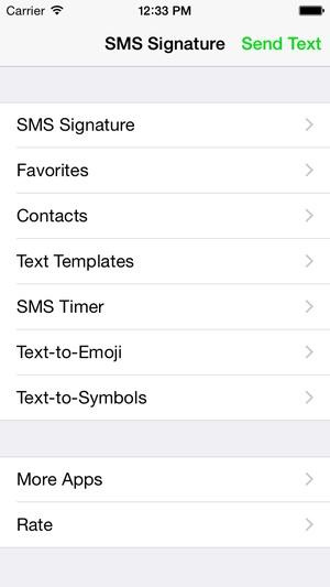 Screenshot SMS Signature on iPhone