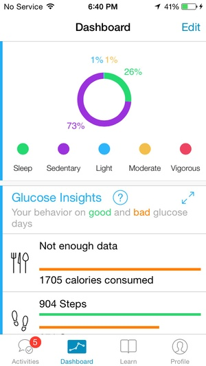 Screenshot GlucoSuccess on iPhone