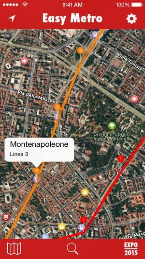Screenshot EasyMetro Milan on iPhone
