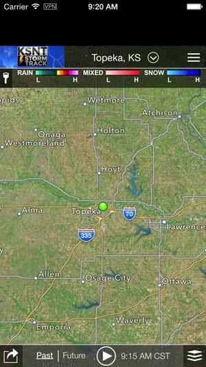 Screenshot KSNT Weather on iPhone