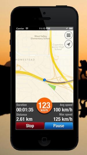 Screenshot Hike Route Tracker on iPhone
