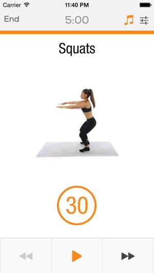 Screenshot Lower Body Sworkit on iPhone