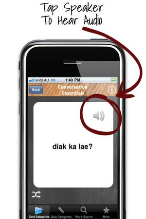 Screenshot Tetum Audio Flash Cards Full on iPhone