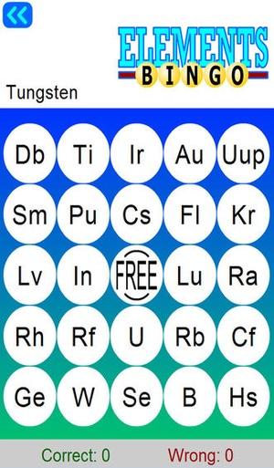 Screenshot Chemical Elements with Bingo on iPhone