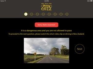Screenshot NZ Driving Quiz on iPad